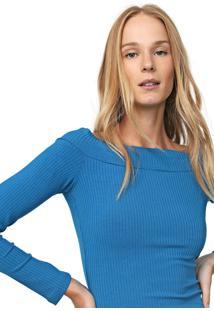 Blusa Colcci Ombro A Ombro Azul