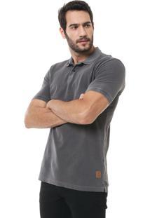 Camisa Polo Forum Reta Textura Grafite