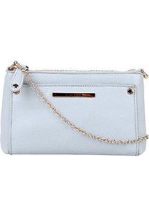 Bolsa Colcci Mini Bag Tiracolo Alça Corrente Feminina - Feminino-Azul Claro