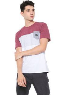Camiseta O'Neill Bayclub Vinho/Cinza