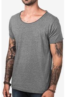 Camiseta Hermoso Compadre Eco Gola Canoa Masculina - Masculino-Cinza