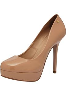 Scarpin Polo London Club Verniz Cristal Nude