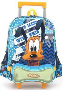 Mochila De Rodinhas Disney Pluto Grande