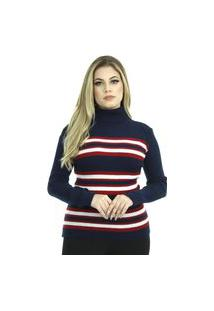 Blusa Tricot Laura Iii Feminina Shopping Do Tricô Lã Gola Alta