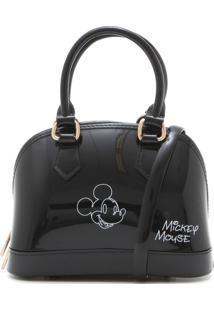 Bolsa Mickey Mouse Verniz Preta