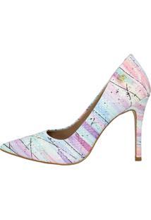 Scarpin Salto Alto Week Shoes Verniz Mesclado