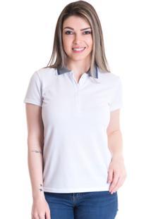 ... Camisa Polo Konciny Piquet Estampado 96110 Branco 839204ac0c3bd