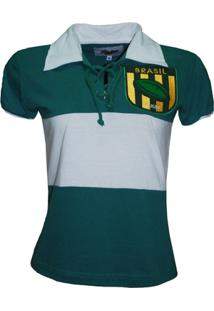 Camiseta Liga Retrô Brasil Rugby Feminina - Feminino