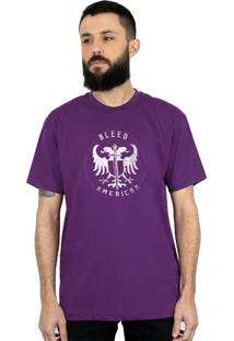 Camiseta Bleed American Sword Of Wisdom Roxo
