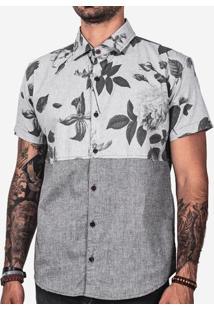 Camisa Meio A Meio Floral 200084