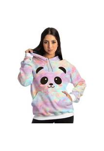 Blusa Moletom Frio Feminino Urso Panda Blusa De Frio Tie Dye