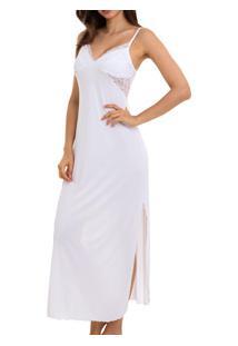 Camisola Longa Com Renda Sepie (1010) Liganete - Branco
