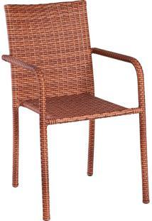 Cadeira De Jardim Alumínio Revestida Com Fibra Sintética C405 – Alegro Móveis. - Castor