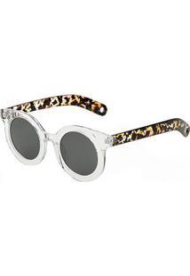 aa482516e R$ 99,99. Netshoes Óculos De Sol Marielas Transparente Tartaruga ...
