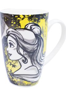 Caneca Minas De Presentes Princesas Amarela