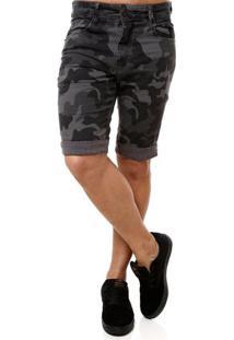 Bermuda Jeans Masculina Dixie Cinza