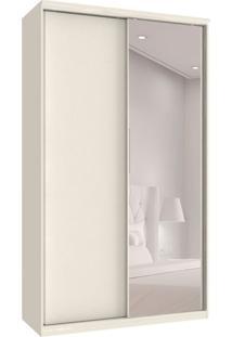 Guarda-Roupa Solteiro Com Espelho Premium Max 2 Pt 3 Gv Branco