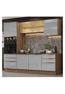 Cozinha Completa Madesa Lux 240002 Com Armário E Balcáo - Rustic/Cinza Cinza