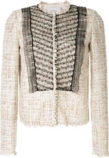 Giambattista Valli Bouclé-Tweed Mesh Jacket - Neutro