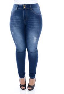 Calça Jeans Hotpants Modeladora Xtra Charmy Azul