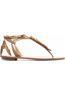 Aquazzura Sandália Com Amarração No Tornozelo - Neutro