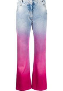 Off-White Calça Jeans Cropped Degrade - Azul