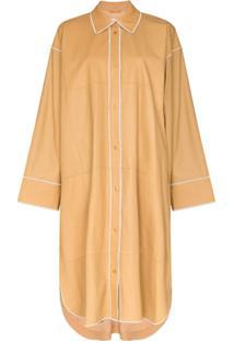 Stand Studio Kelsie Leather Shirt Dress - Amarelo