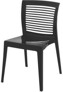 Cadeira Victoria Encosto Vazado Cor Preto - 21711 Sun House