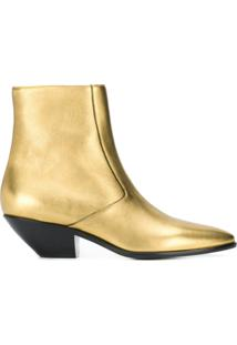 Saint Laurent Bota Metalizada 'West 45' - Dourado