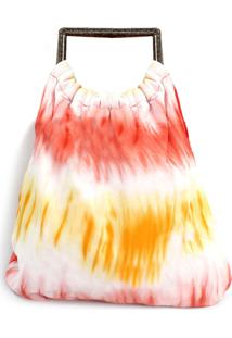 Bolsa Diana Dali Shoes Tecido Tye Dye Vermelho - Vermelho - Feminino - Dafiti