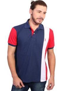 Camisa Polo Golf Club Listrada - Masculino-Marinho+Vermelho