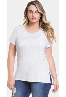 Blusa Branco Lunender Mais Mulher