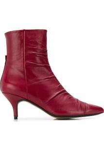 Joseph Ankle Boot Bianca - Vermelho