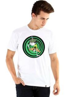 Camiseta Ouroboros Manga Curta Mente Complexa - Masculino-Branco