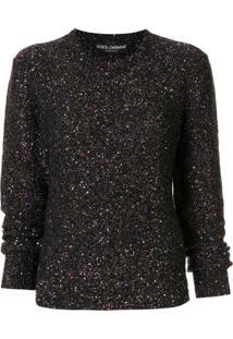 Dolce & Gabbana Suéter Metálico Com Aplicação De Paetês - Estampado