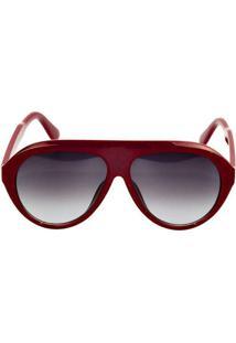 Óculos De Sol Berlim Marrom Vermelho