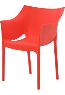 Cadeira Tais Curitiba Polipropileno Vermelho - 34323 - Sun House