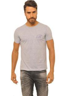 Camiseta Masculina Joss Logo Urso - Masculino-Cinza