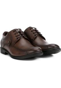 Sapato Casual Couro Ferracini Bolonha - Masculino-Café