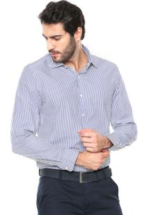Camisa Richards Listras Azul