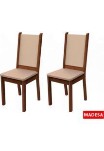 Kit 2 Cadeiras Rustic Crema E Pérola Madesa4281