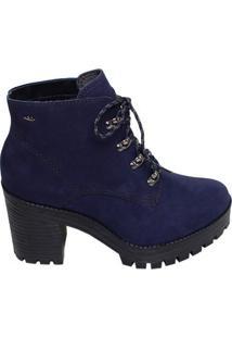 3cb6ebb01 ... Bota Feminina Cano Curto Salto Médio Dakota Azul Marinho