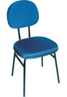 Cadeira Fixa 4 Pés Csf-01-3/4 Em Tecido Azul Mq09 Pethiflex