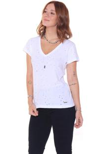 T-Shirt Studio21 Destroyed Branca