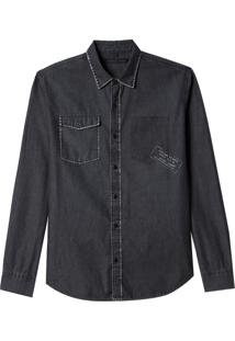 Camisa John John Leon Jeans Preto Masculina (Jeans Black Escuro, Pp)