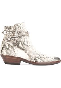 Isabel Marant Ankle Boot Com Efeito De Pele De Cobra - Neutro