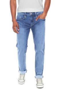 Calça Jeans Colcci Reta Estonada Azul