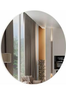 Espelho Redondo Lunes Medio Cor Off White 45 Cm (Diam) - 57968 - Sun House