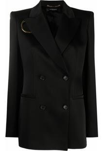 Versace Blazer Com Abotoamento Duplo - Preto