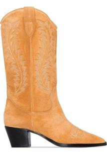 Paris Texas Bota Cowboy Com Bordado - Marrom